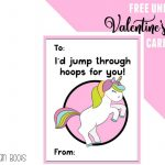 Free Unicorn Valentine's Day Cards Printable For Kids   Ruffles And   Free Printable Childrens Valentines Day Cards