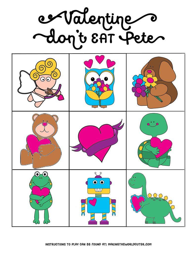 Free Valentine Printables Don't Eat Pete | Nancy Thomas | Valentines - Don T Eat Pete Free Printable