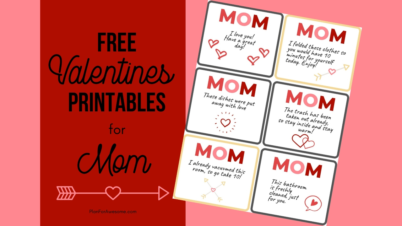 Free Valentines Printable Acts Of Service For Mom - Plan For Awesome - Free Printable Out Of Service Sign