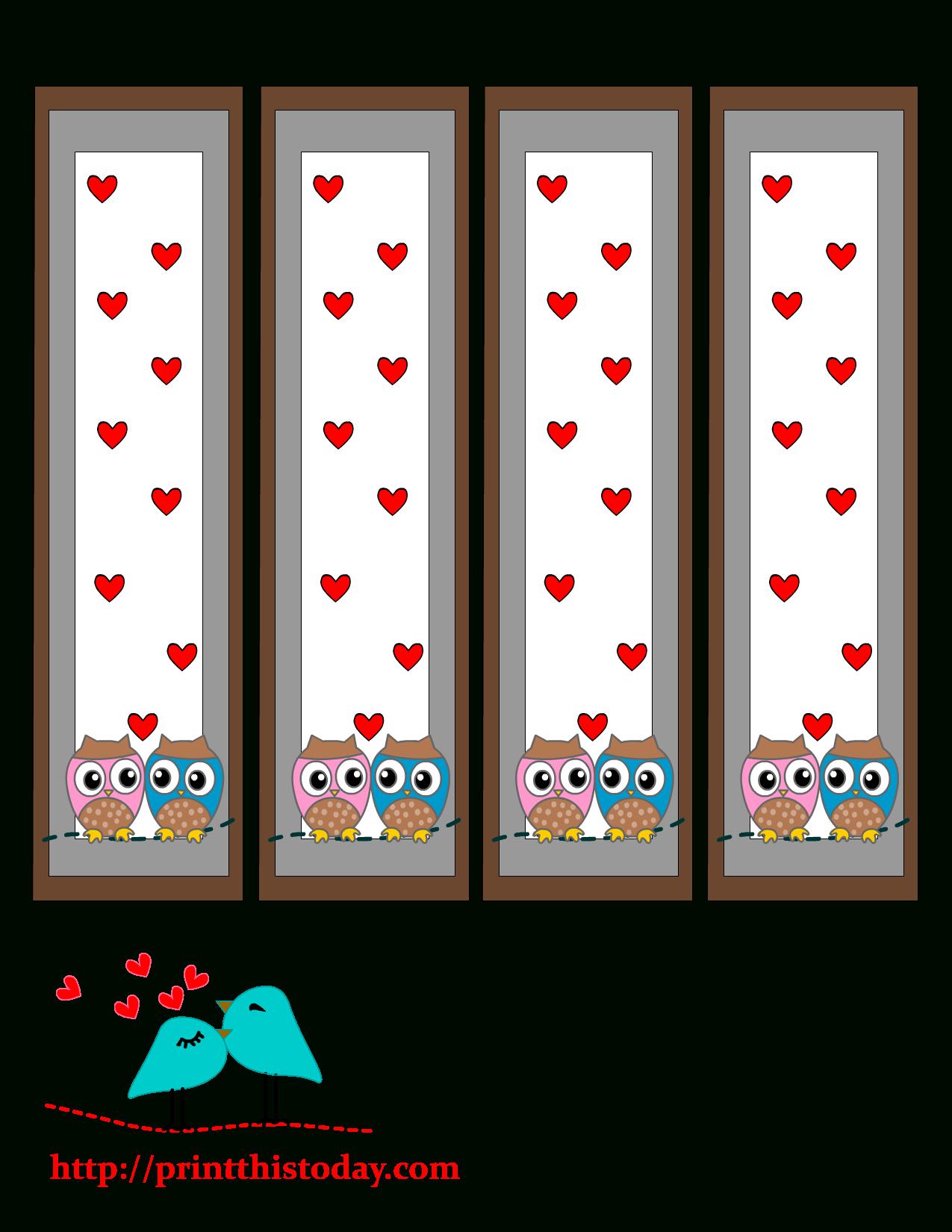Free Valentines Printables Owl Bookmark - 1.17.kaartenstemp.nl • - Free Printable Owl Bookmarks