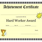 Free Vbs Certificate Templates New Printable Achievement   Free Printable Children's Certificates Templates