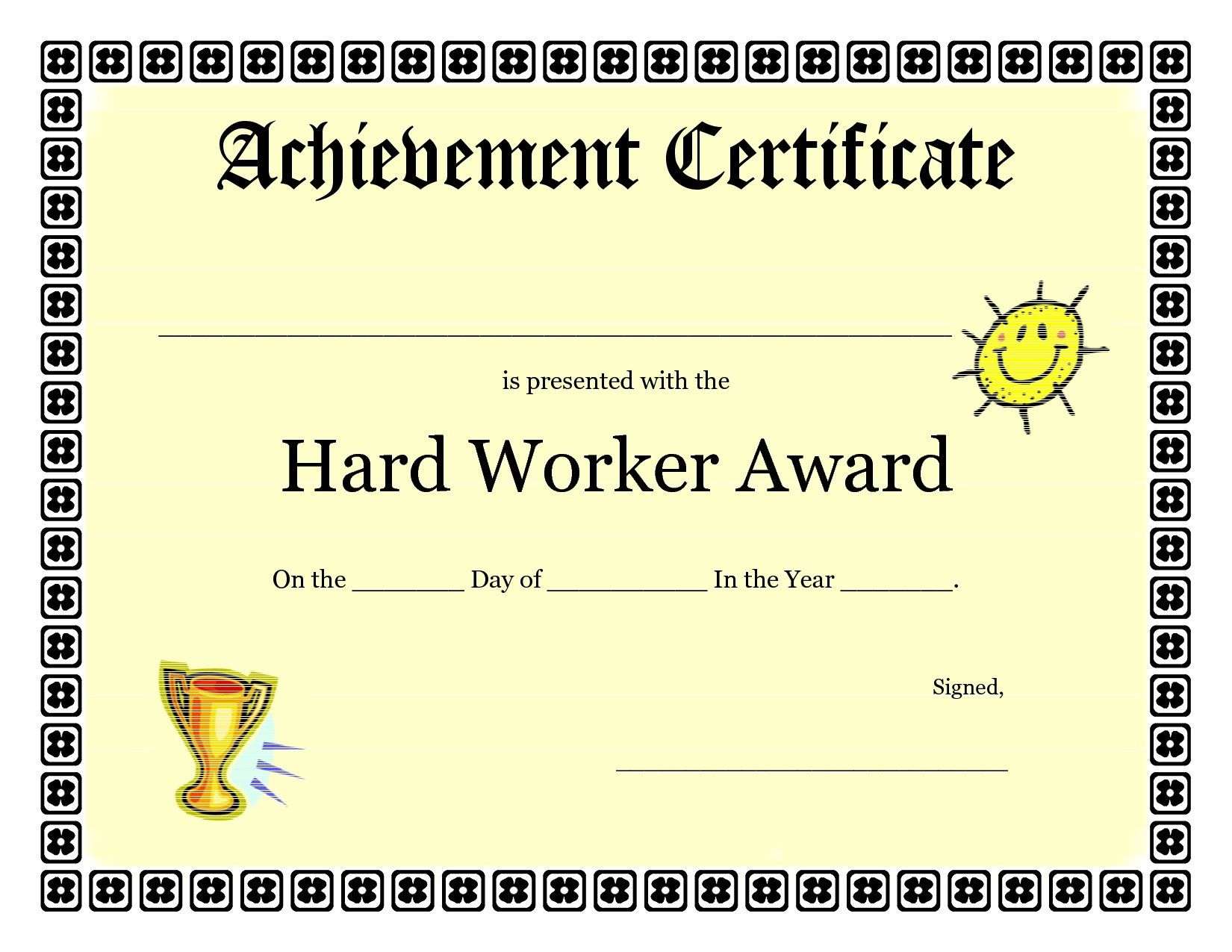 Free Vbs Certificate Templates New Printable Achievement - Free Printable Children's Certificates Templates