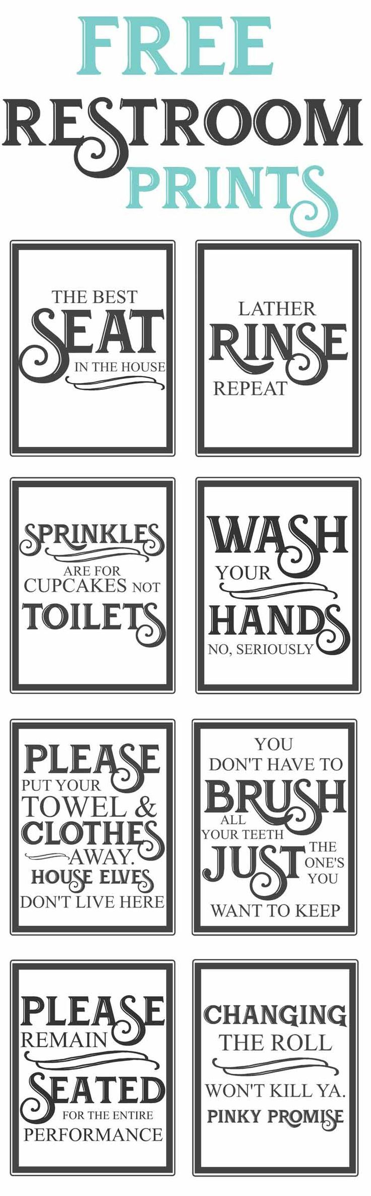 Free Vintage Bathroom Printables   Farmhouse   Diy Home Decor, Home - Free Printable Bathroom Signs