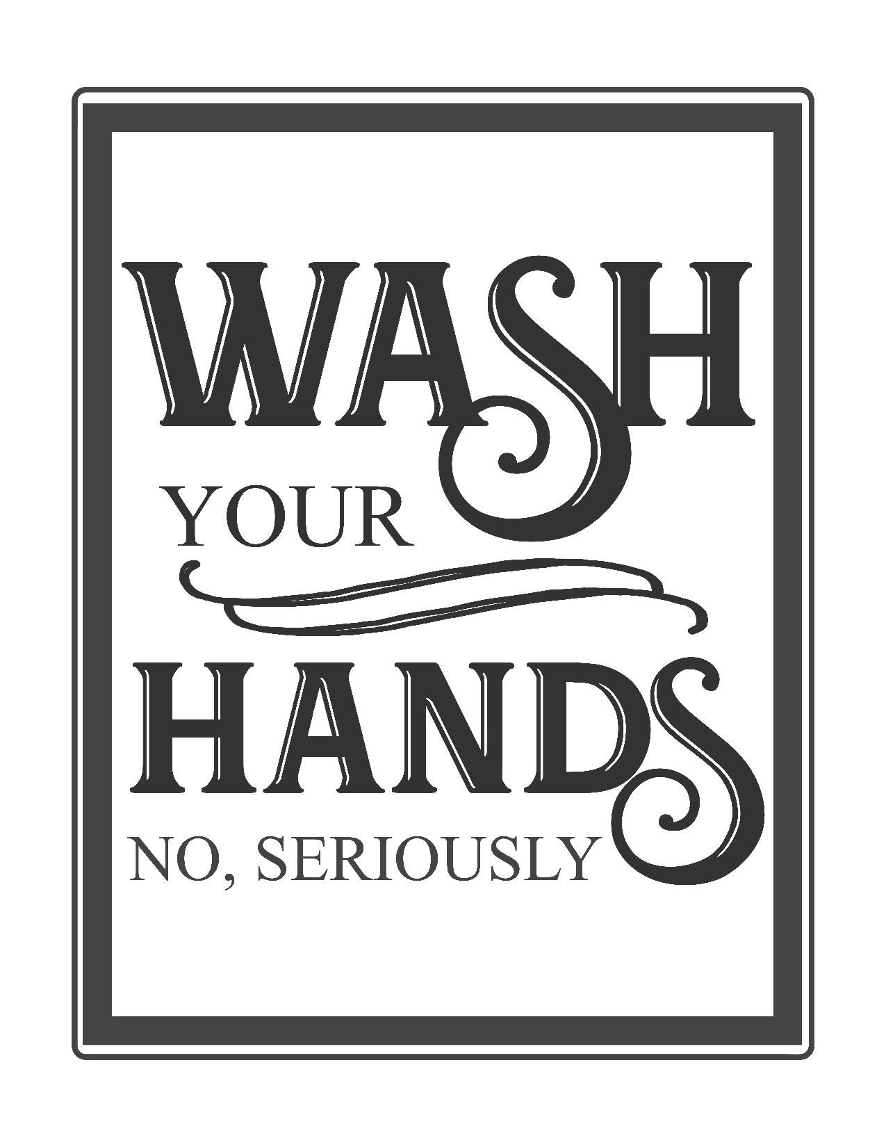 Free Vintage Bathroom Printables | Printables ** | Bathroom Quotes - Free Printable No Restroom Signs