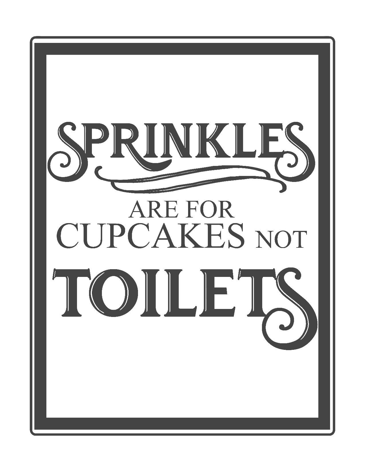 Free Vintage Bathroom Printables   Printables **   Pinterest - Free Printable Do Not Flush Signs