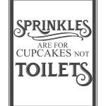 Free Vintage Bathroom Printables   Printables **   Pinterest   Free Printable Flush The Toilet Signs