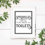 Free Vintage Bathroom Printables   The Mountain View Cottage   Free Printable Bathroom Quotes