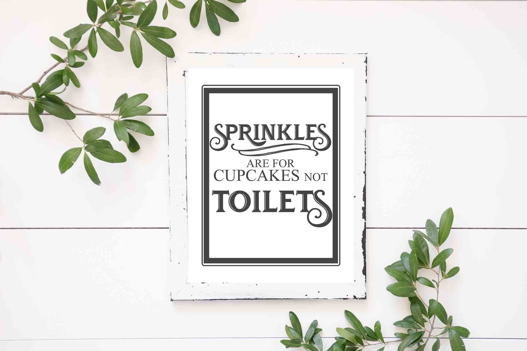 Free Vintage Bathroom Printables - The Mountain View Cottage - Free Printable Bathroom Quotes