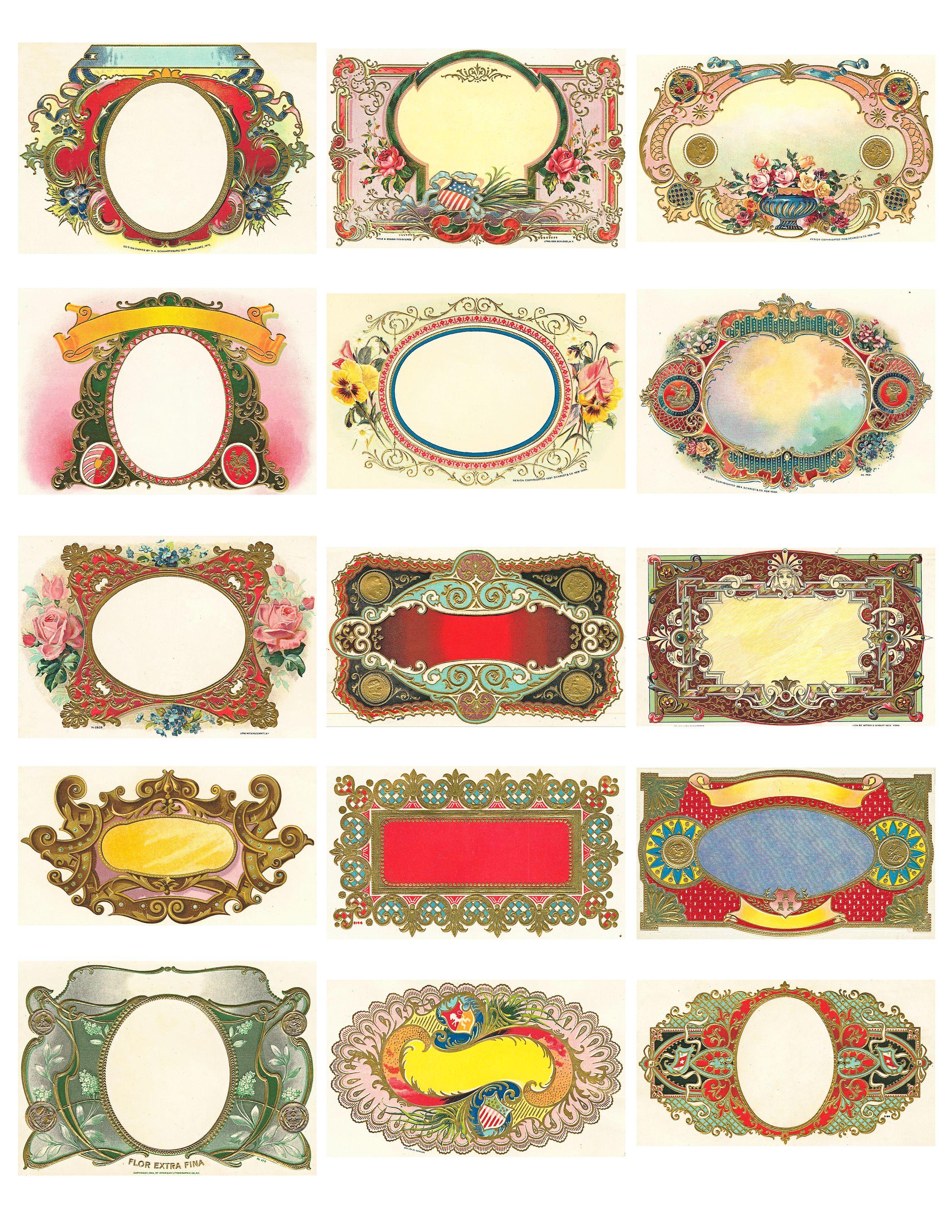 Free Vintage Labels Graphics Collage Sheet   Inspiring Ideas - Free Printable Vintage Labels