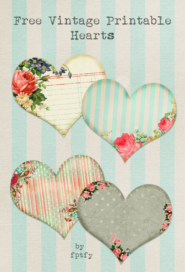 Free Vintage Printable Hearts - Free Pretty Things For You - Free Printable Heart Designs
