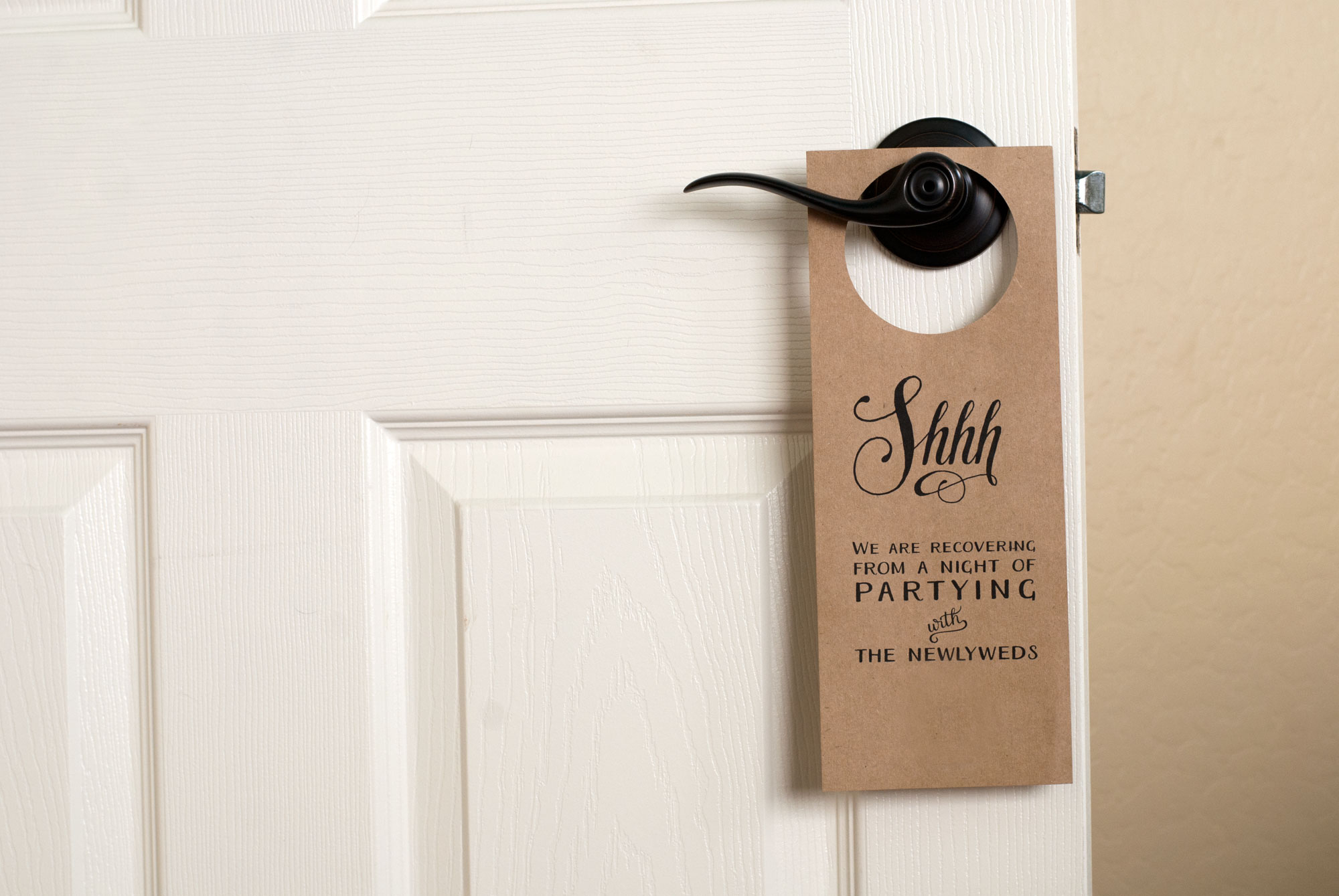 Free Wedding Door Hanger Printable | Handmade And Homegrown - Free Printable Door Hanger Template