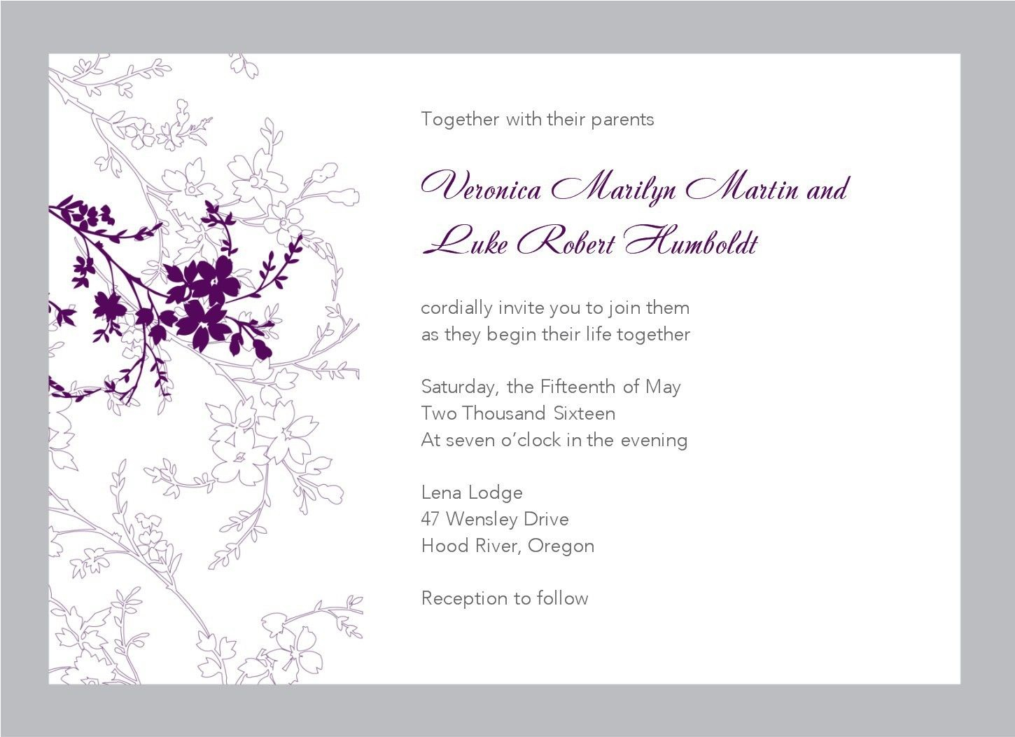 Free Wedding Invitation Templates For Word- What's So Intriguing - Free Printable Wedding Invitation Templates For Word