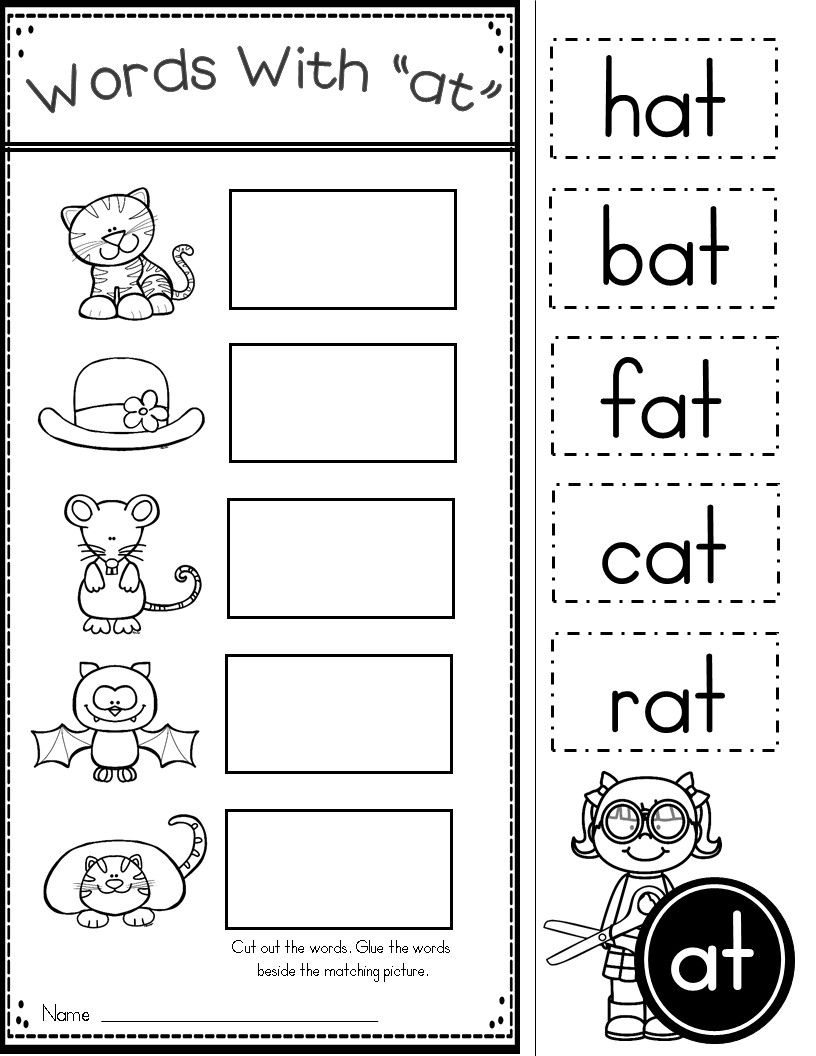 Free Word Family At Practice Printables And Activities | Kinder - Free Printable Word Family Worksheets For Kindergarten