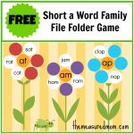 Free Word Family File Folder Game: Short A   The Measured Mom   Free Printable Folder Games