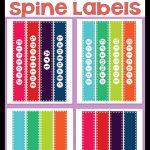 Freebie* Binder Spine Labels   Printable Binder Spine Inserts Free
