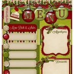 Freebie   Christmas Dinner Menu! | Christmas Ideas | Christmas   Free Printable Christmas Dinner Menu Template