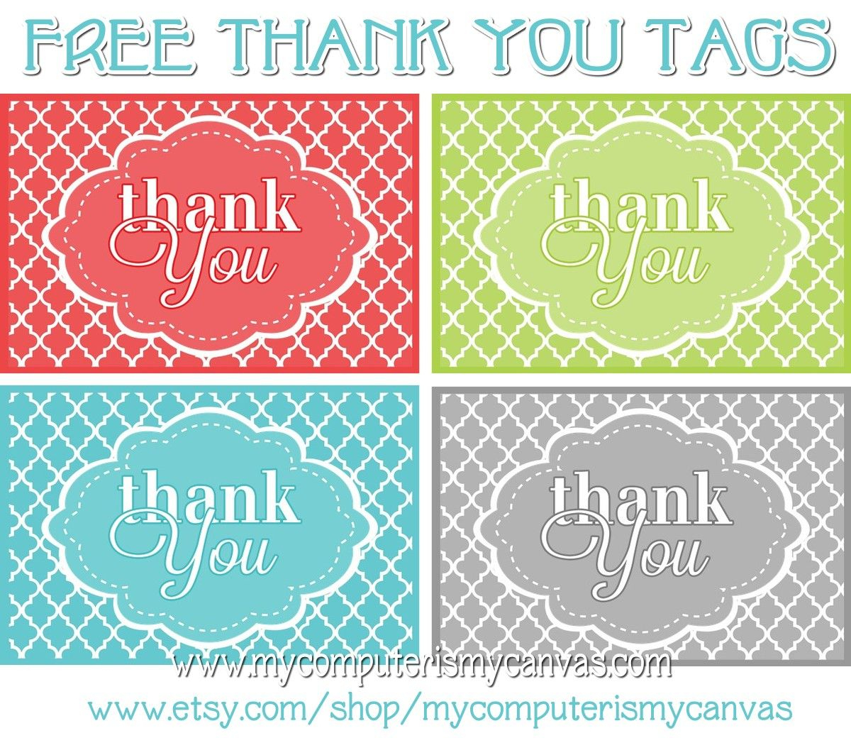 Freebie} Printable Thank You Tags | Printables | Pinterest | Thank - Free Printable Thank You Tags