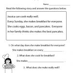 Freeeducation/worksheets For Second Grade |  Comprehension   Free Printable Short Stories For 2Nd Graders