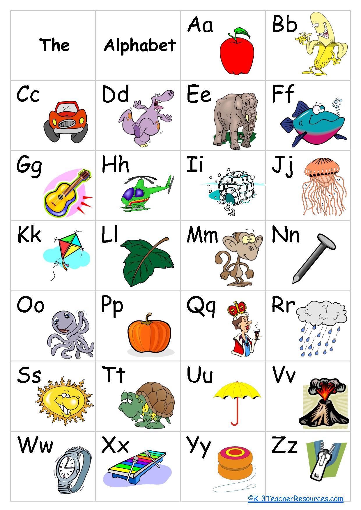 Free+Printable+Alphabet+Chart | Schoolroom Ideas | Pinterest - Free Printable Alphabet Chart