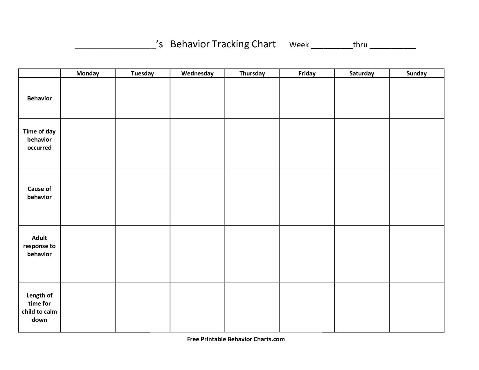 Free+Printable+Behavior+Charts+For+Teachers   Things To Try   Free - Free Printable Charts For Classroom
