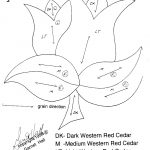 Freetulip Intarsia Woodworking Pattern  Beginner | Intarsia   Free Printable Intarsia Patterns