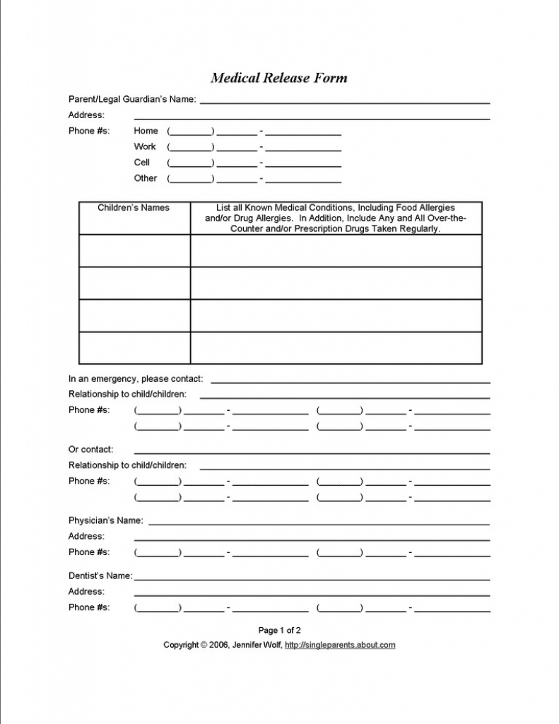Fresh Daycare Information Sheet Template Free Printable Forms For - Free Printable Parent Information Sheet