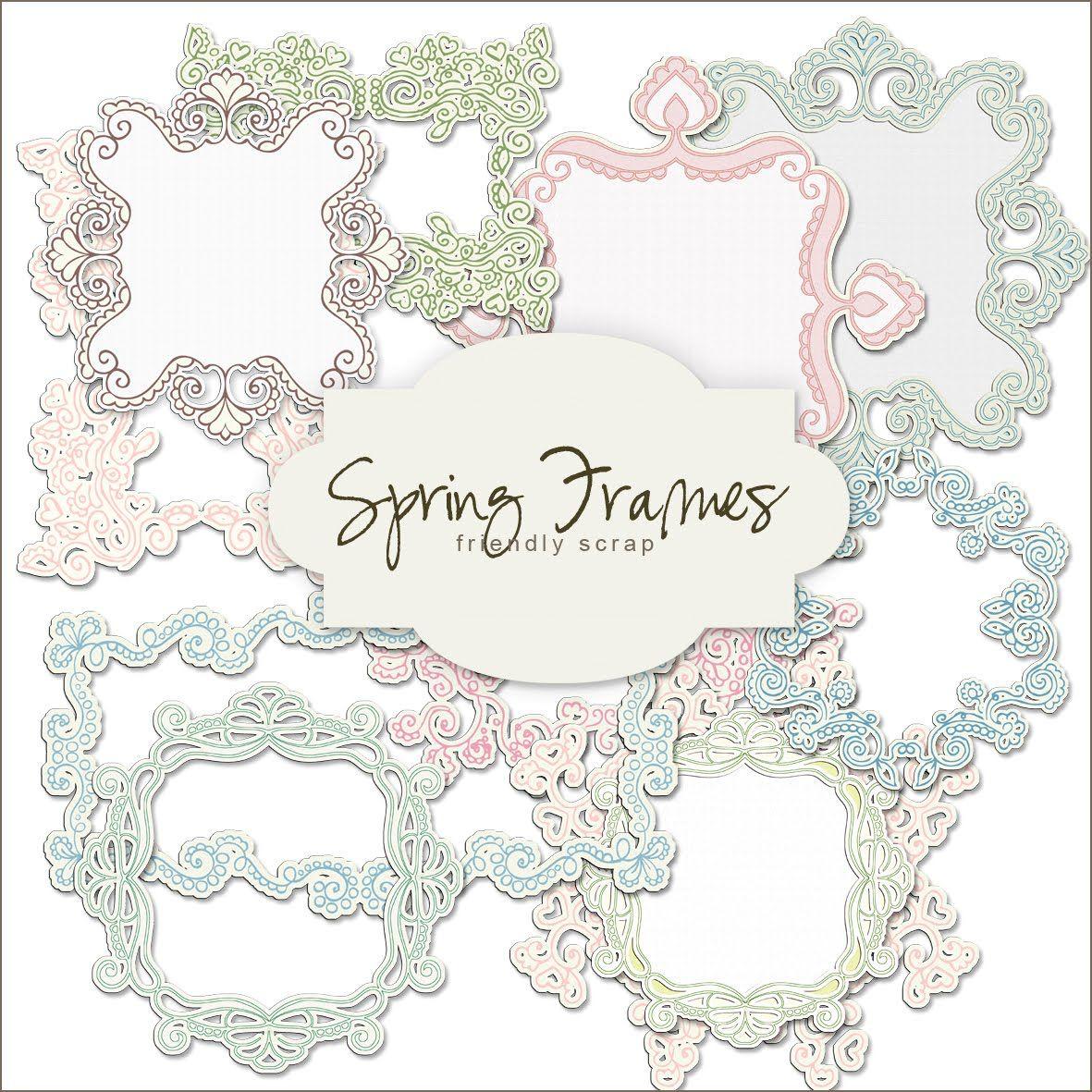 Friendly Scrap: Free Scrap Frame | Printable Frames | Scrapbook - Free Printable Frames For Scrapbooking