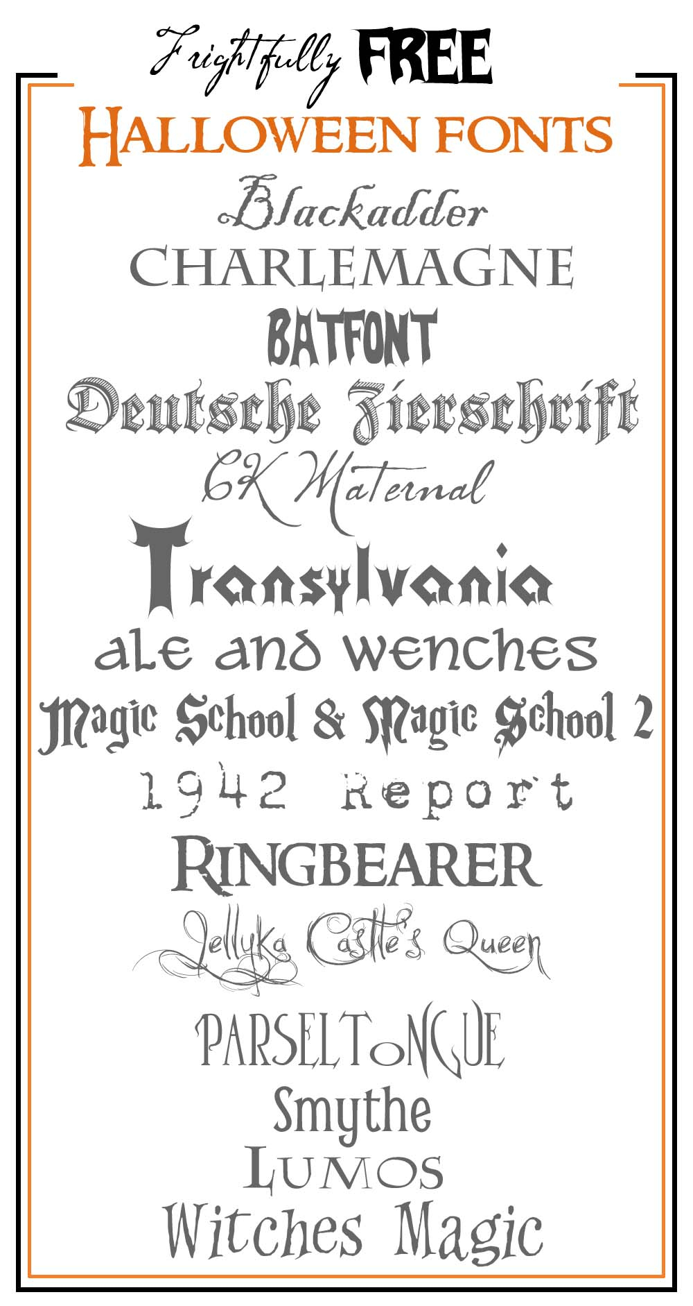Frightfully Free Halloween Fonts - Free Printable Fonts