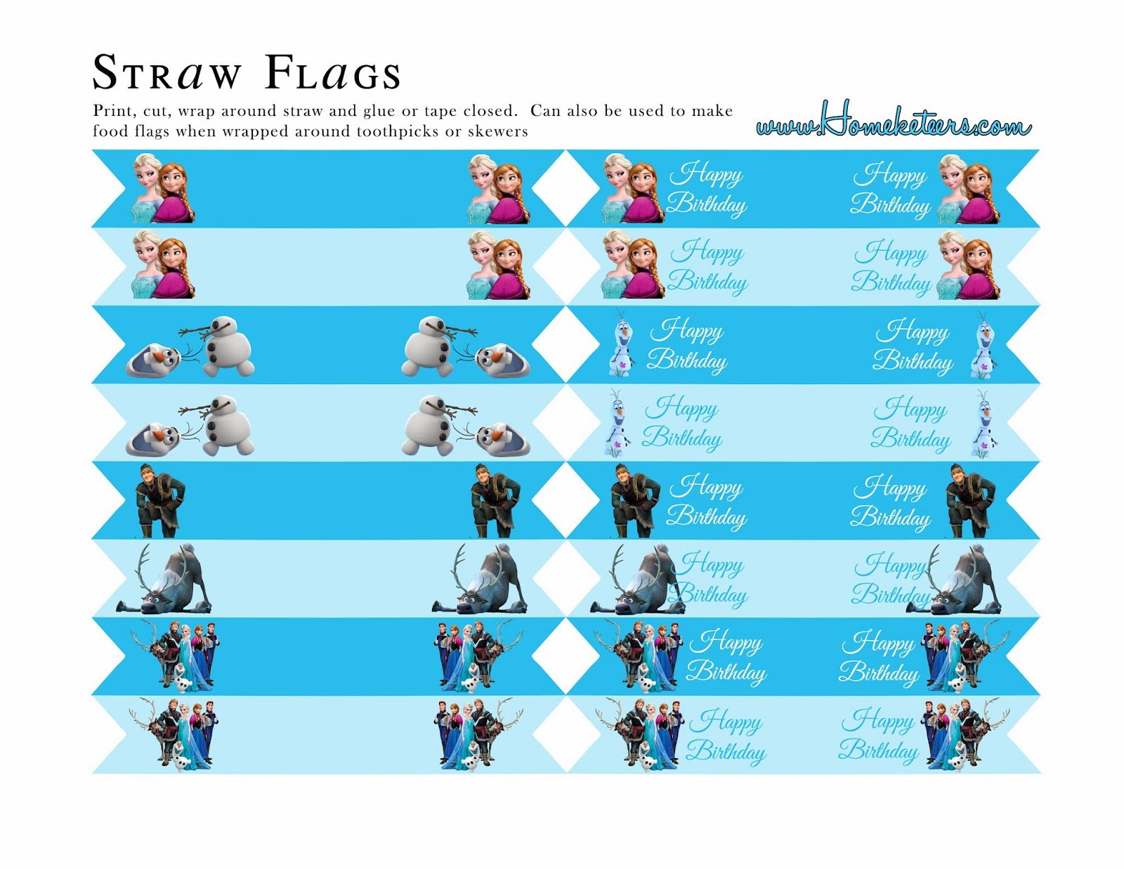 Frozen Party: Free Printables. | Oh My Fiesta! In English - Frozen Birthday Banner Printable Free