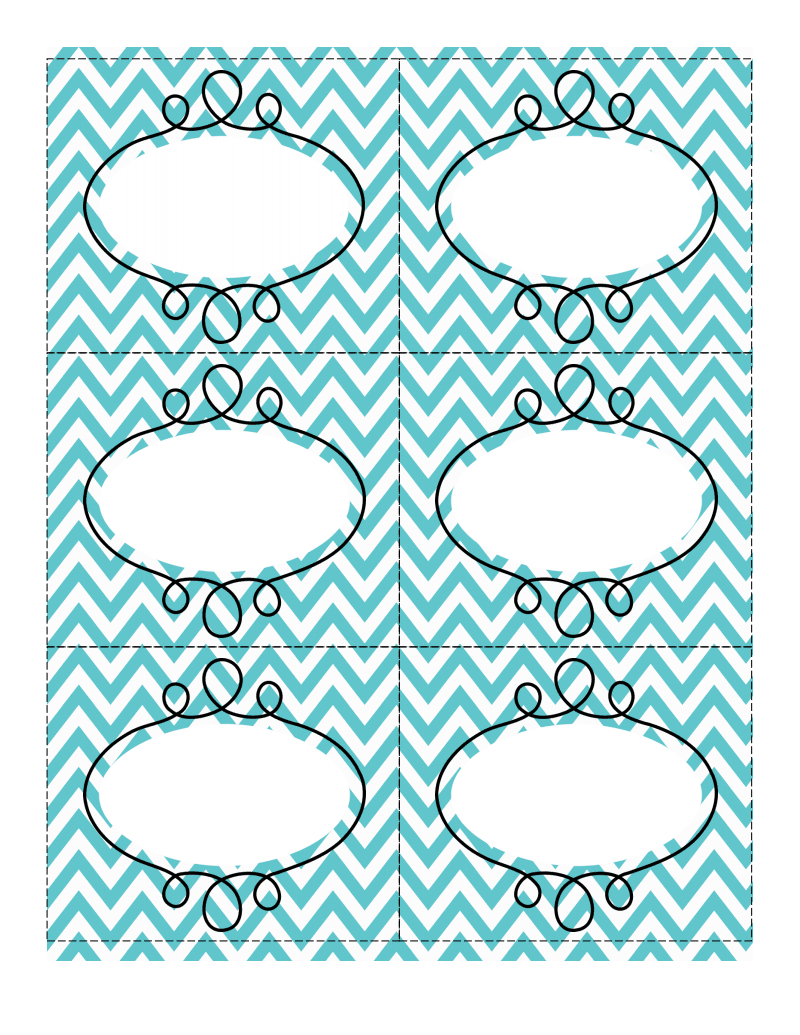 Fun Chevron-Patterned Labels   Consolidation Ideas   Printable - Free Printable Chevron Labels