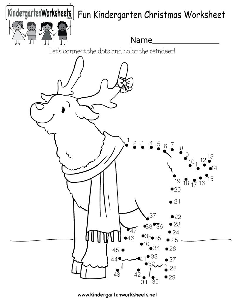 Fun Christmas Worksheet - Free Kindergarten Holiday Worksheet For Kids - Free Printable Christmas Worksheets