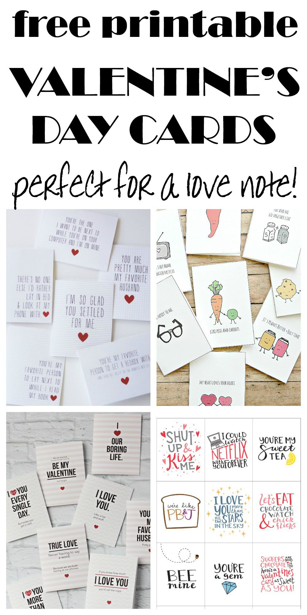 Funny And Cute, Free Printable Cards Perfect For A Love Note - Free Printable Love Cards