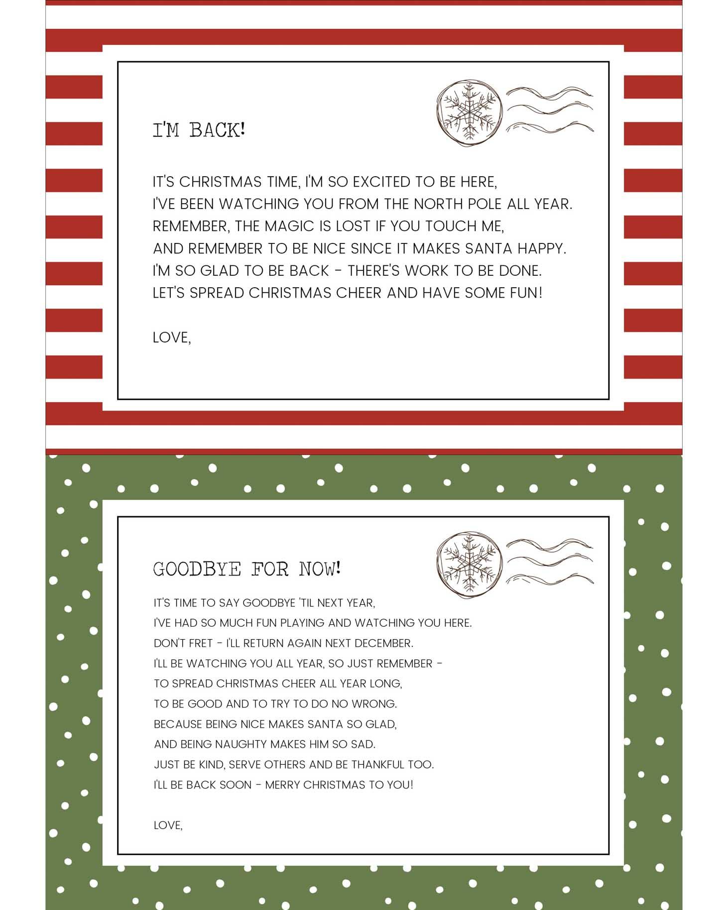 Funny Elf On The Shelf Ideas + Free Printables | Lil' Luna - Elf On The Shelf Goodbye Letter Free Printable