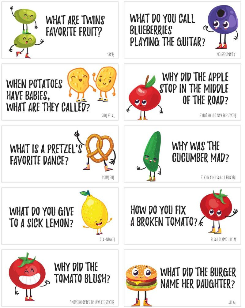 Funny Food Jokes To Print And Share! | Skip To My Lou - Free Printable Jokes For Adults