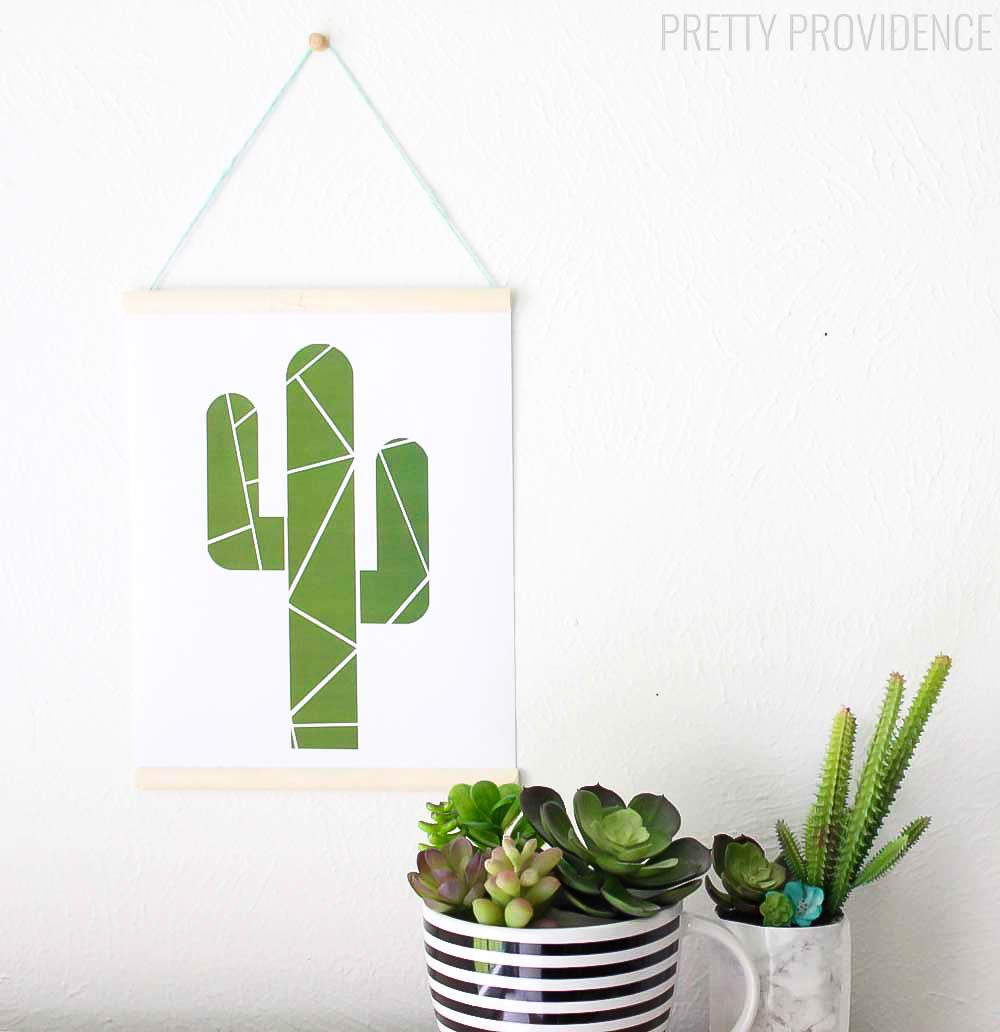 Geometric Cactus Printable - Lil' Luna - Free Printable Cactus
