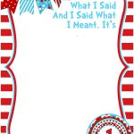 Get Free Printable Dr.seuss   Cat In The Hat Invitation Template   Dr Seuss Free Printable Templates