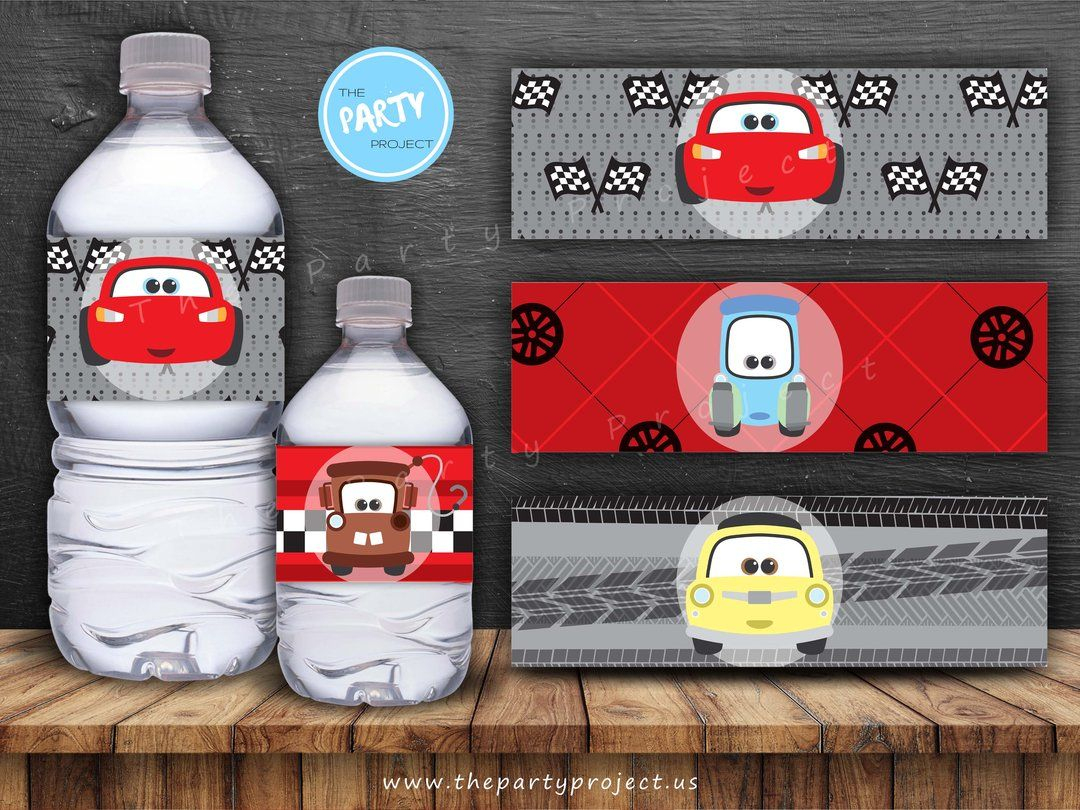 Get Your Engines Started For Your Little Racer's Special Day With - Free Printable Disney Cars Water Bottle Labels