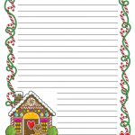 Gingerbread Printable Border Paper With And Without Lines | A To Z   Free Printable Writing Paper With Borders