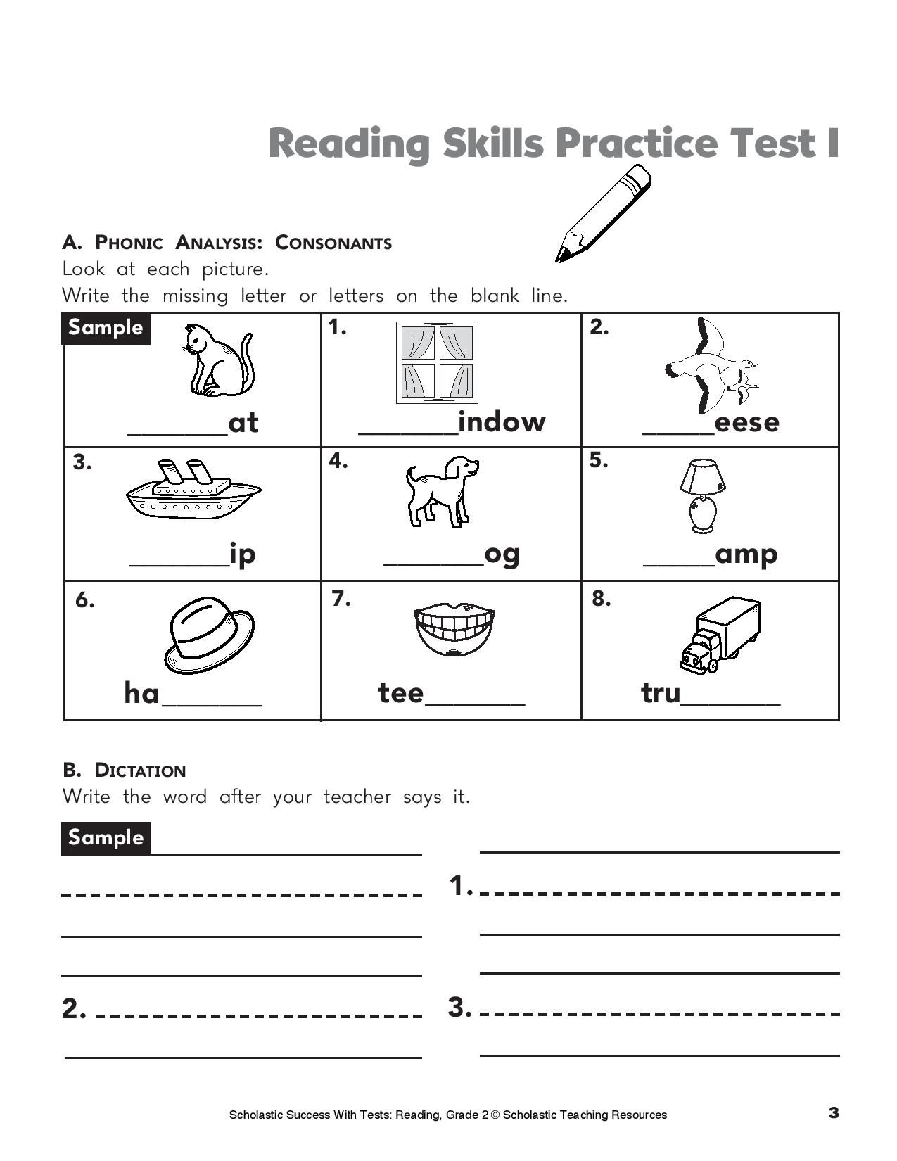 Give Your Child This Printable Reading Practice Test On Phonics - Hooked On Phonics Free Printable Worksheets