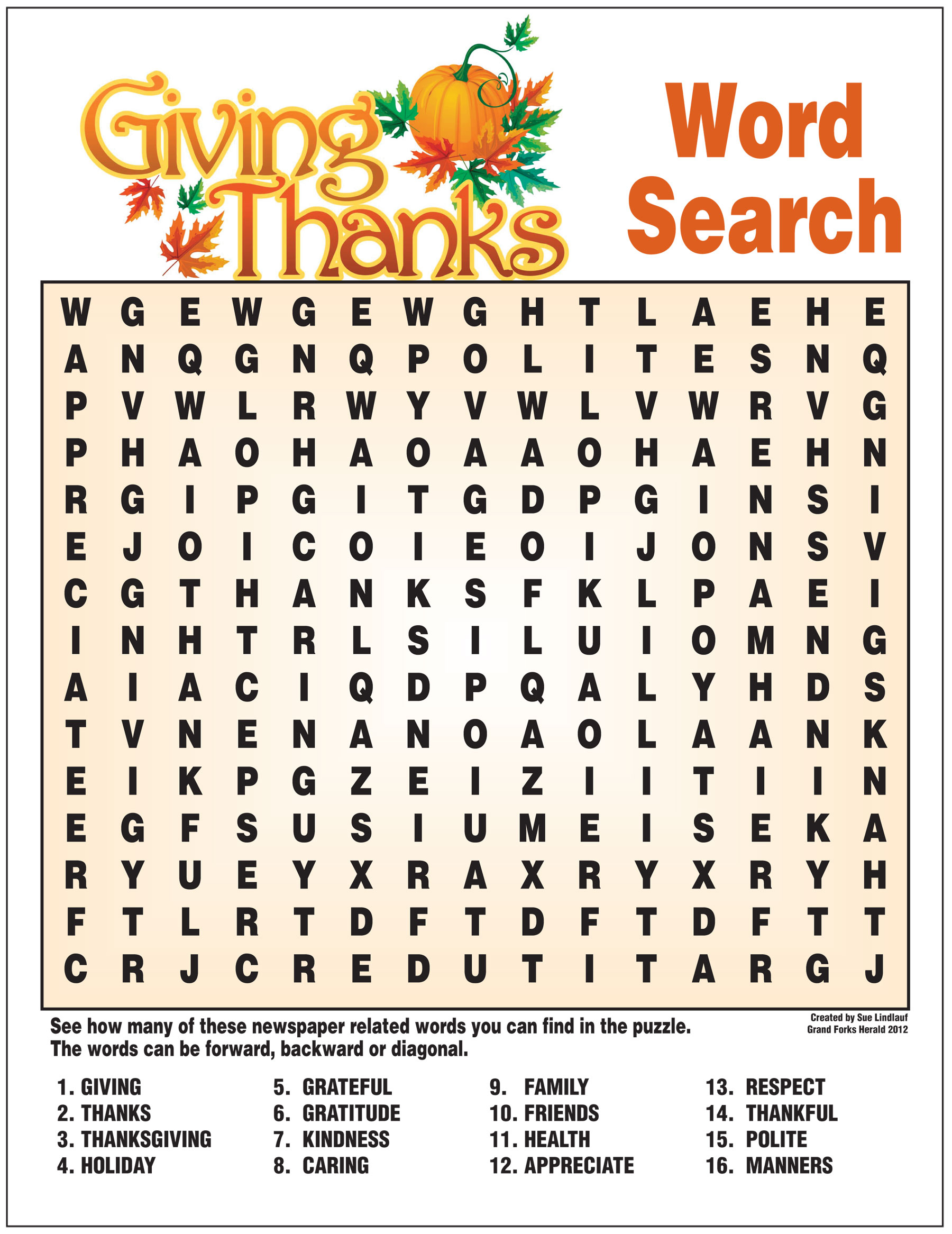 Giving Thanks Word Search Border Puzzle Maker Online ~ Themarketonholly - Word Search Maker Online Free Printable