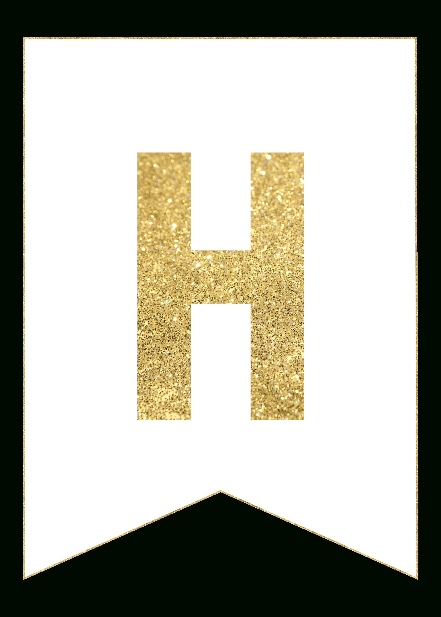 Gold Free Printable Banner Letters   Printables   Pinterest - Free Happy Birthday Printable Letters