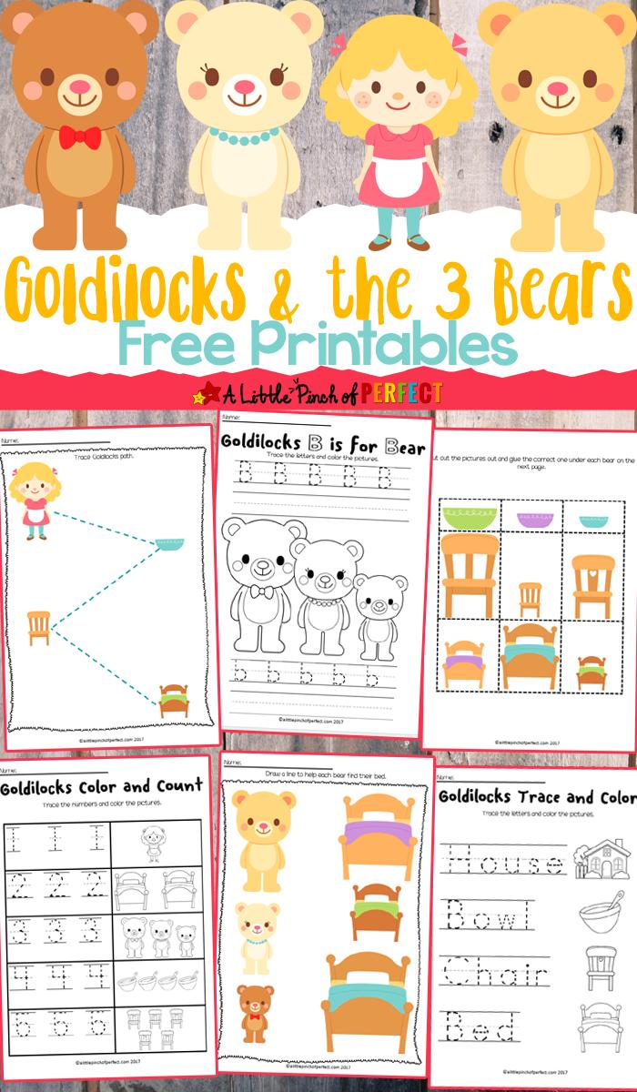 Goldilocks And The Three Bears Free Printables - - Free Printable Goldilocks And The Three Bears Story