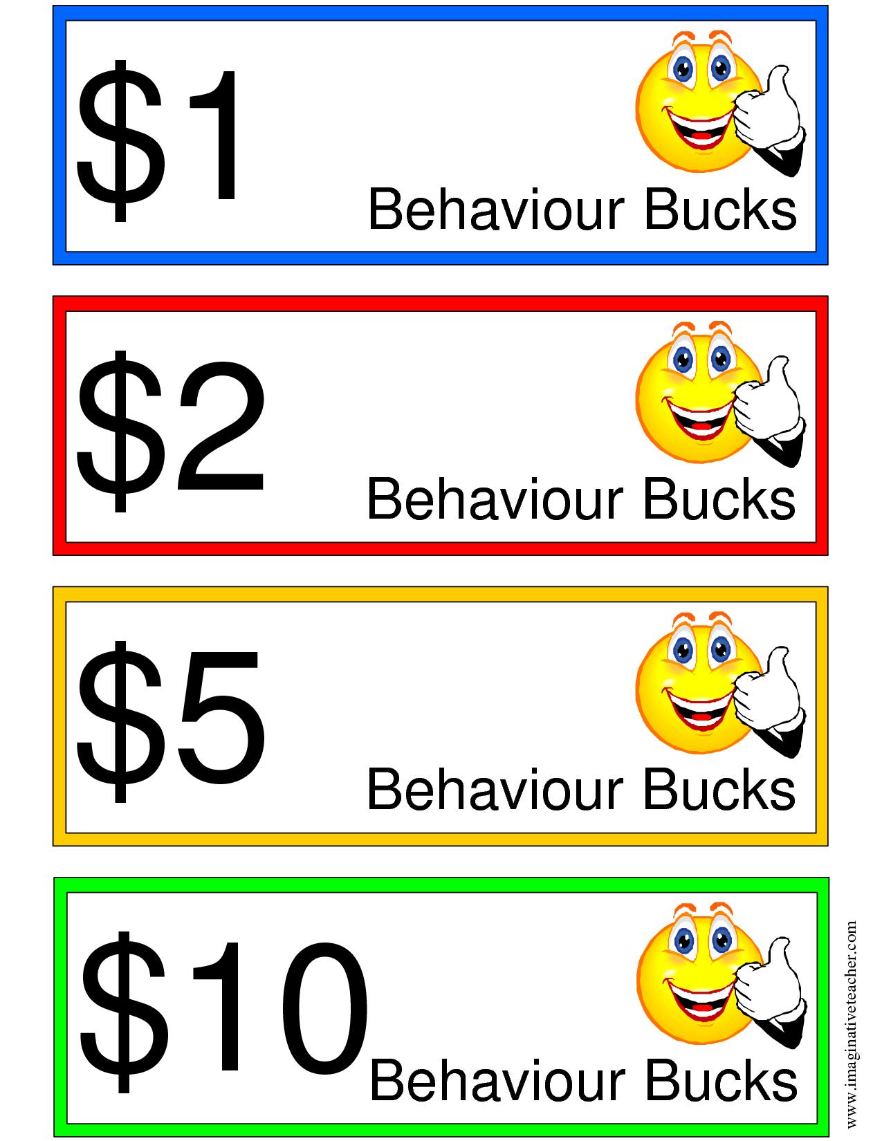 Good Behavior Bucks   Items Ship Free Printable Chores Print - Free Printable Chore Bucks