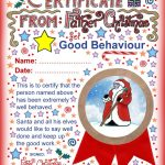 Good Behaviour Certificate From Father Christmas | Christmas   Good Behaviour Certificates Free Printable