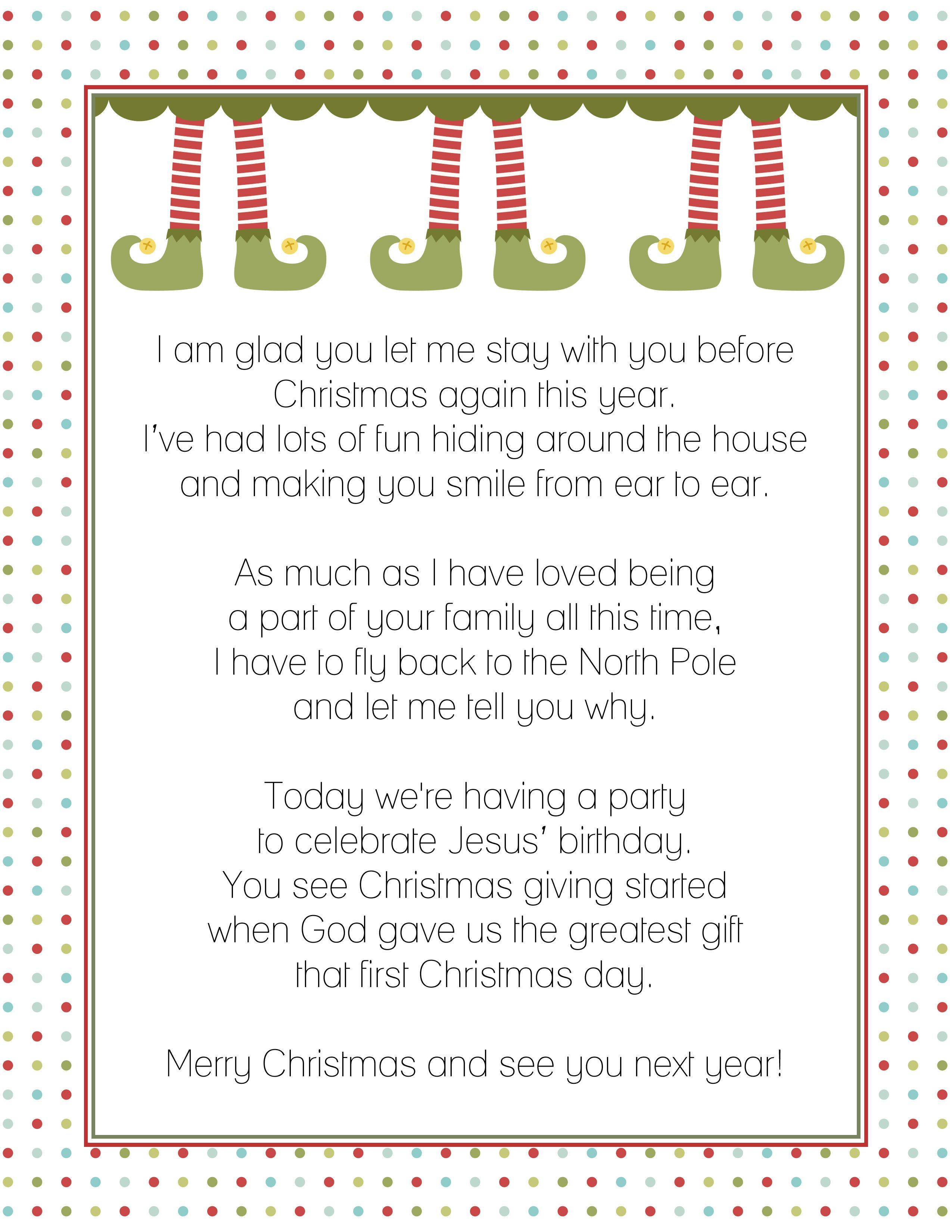 Goodbye Letter From The Elf On A Shelf | Christmas! | Pinterest - Elf On The Shelf Goodbye Letter Free Printable