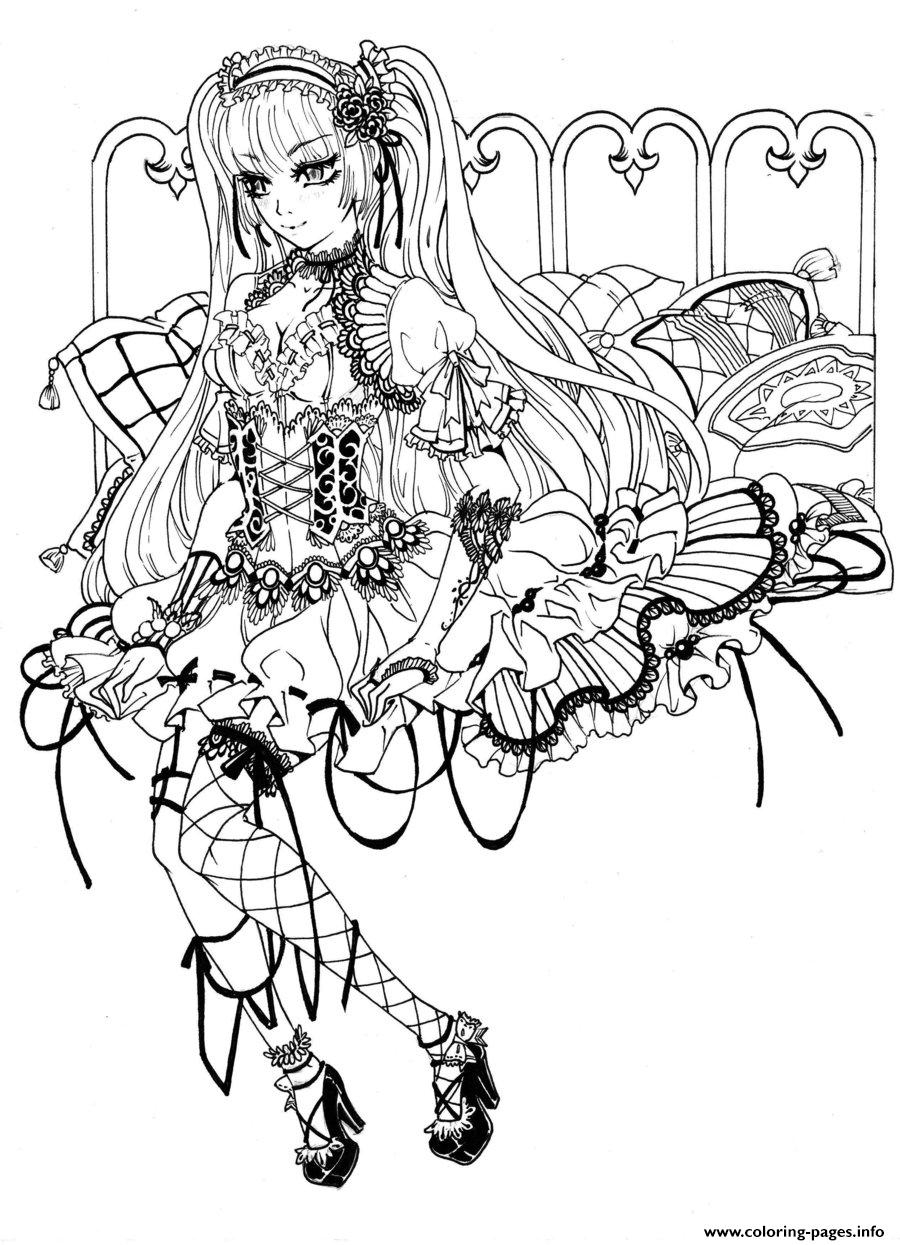 Gothic Fairy Coloring Pages Printable - Free Printable Coloring Pages For Adults Dark Fairies