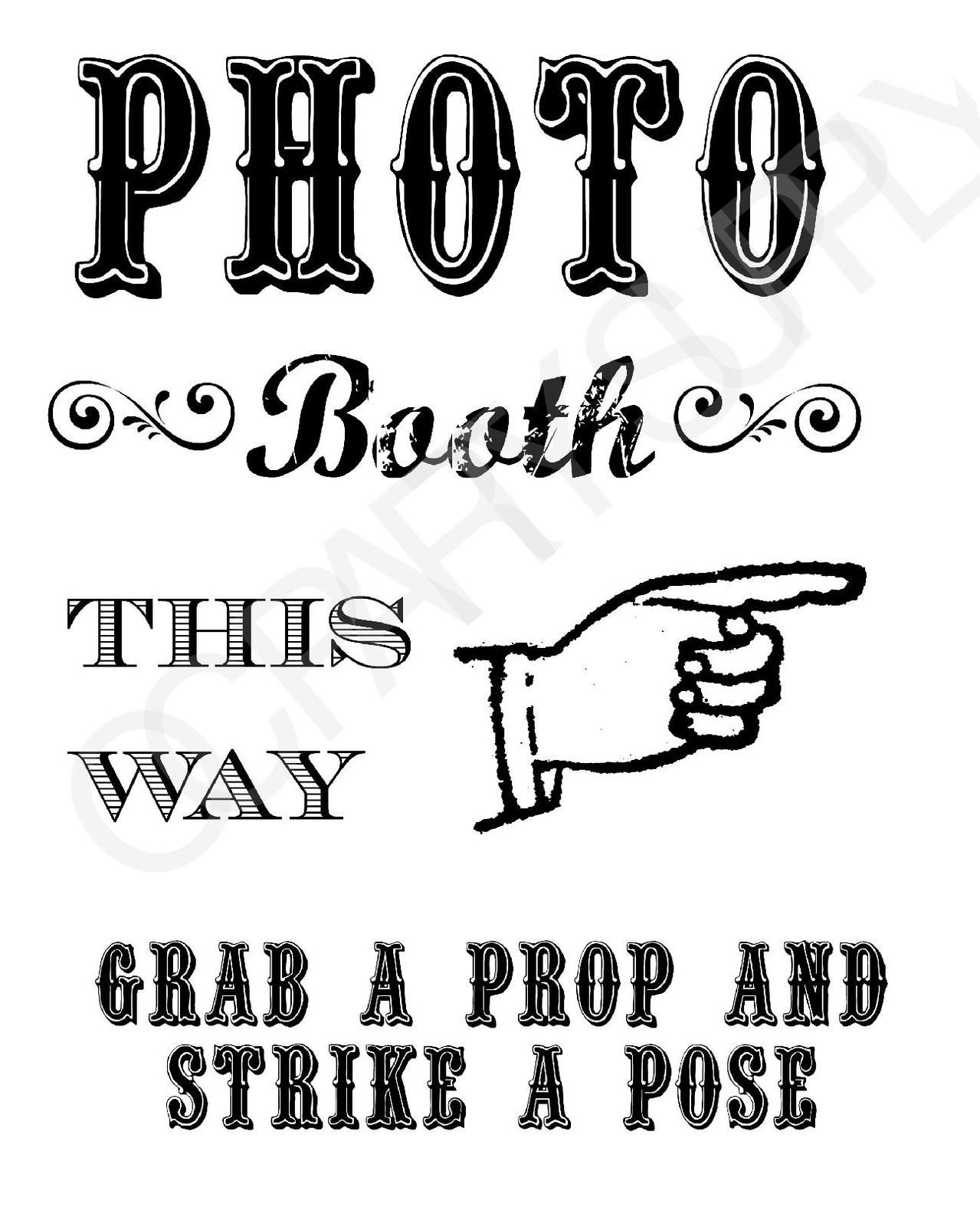 Grab A Prop & Strike A Pose! {Free} Printable Photo Booth Sign - Free Printable Wedding Photo Booth Props