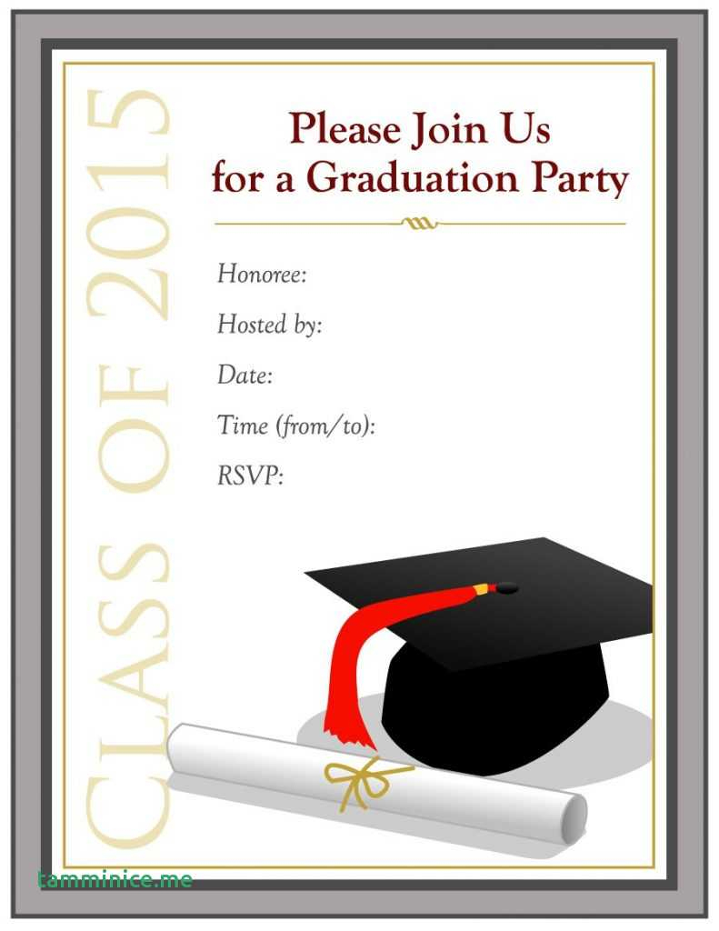 Grad Invite Templates Unique Free Printable Graduation Party - Free Printable Graduation Party Invitations