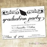 Graduate Invites, Glamorous Grad Party Invites To Design Party   Free Printable Graduation Party Invitations
