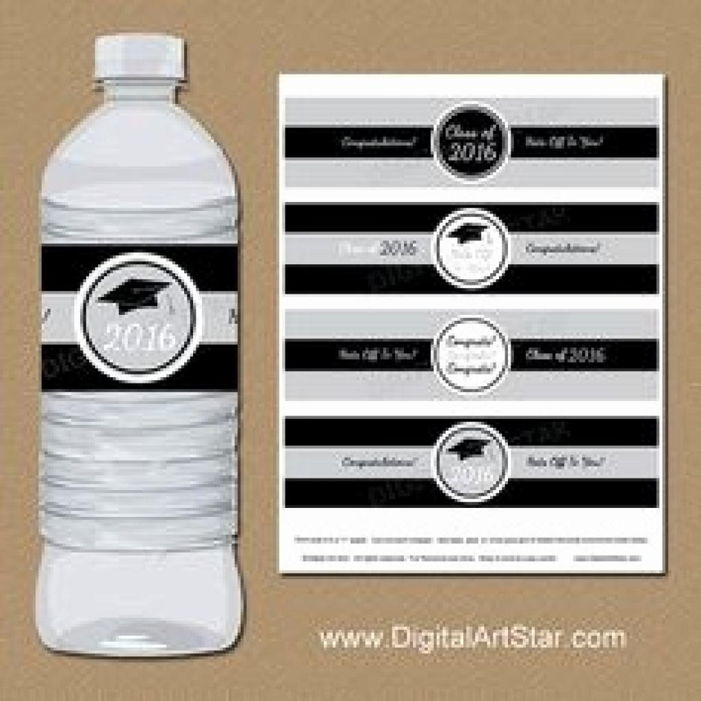 Graduation Water Bottle Labels Luxury Free Printable Graduation - Free Printable Water Bottle Labels Graduation